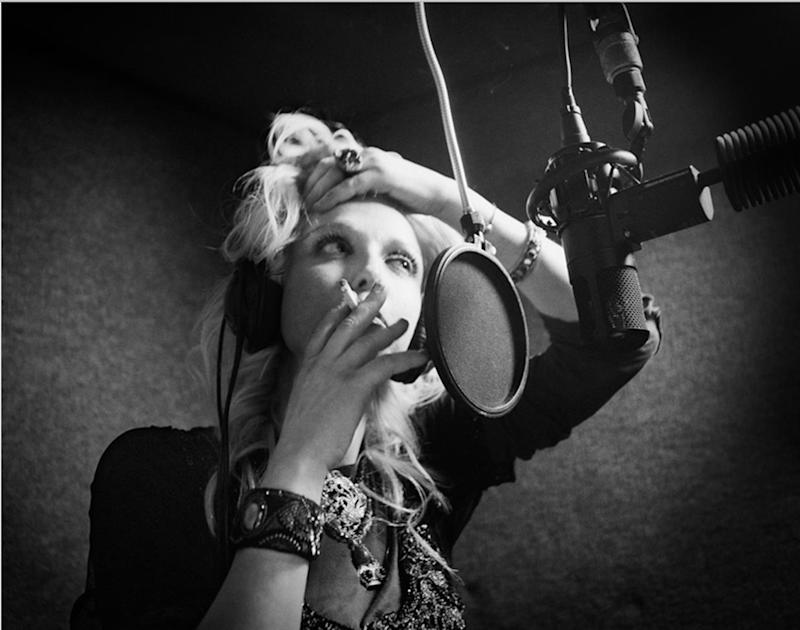 """Courtney Love, date unknown. Photographed by Clay Patrick McBride and featured in the exhibition """"Grunge: Rise of a Generation,"""" curated by Marcelle Murdock and Casey Fannin-Kaplan. On view at Morrison Hotel Gallery in New York, Maui, and Los Angeles from March 8 through 31, 2019."""