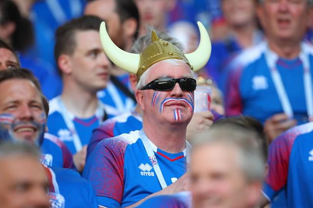 <p>The tension grows for Iceland's colourful fans in their first ever World Cup match </p>