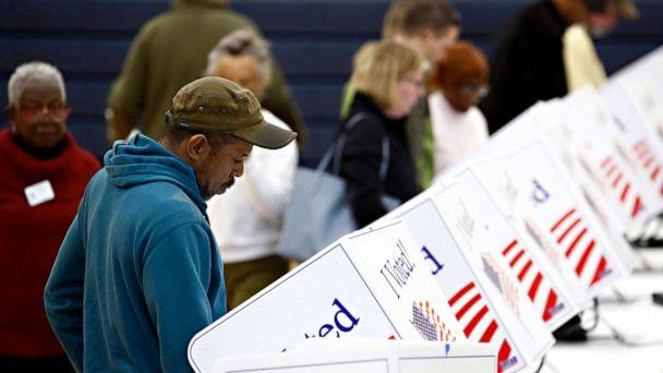 PHOTO: A voter fills out his ballot at a Democratic primary polling place, Feb. 29, 2020, in North Charleston, S.C. (Patrick Semansky/AP)