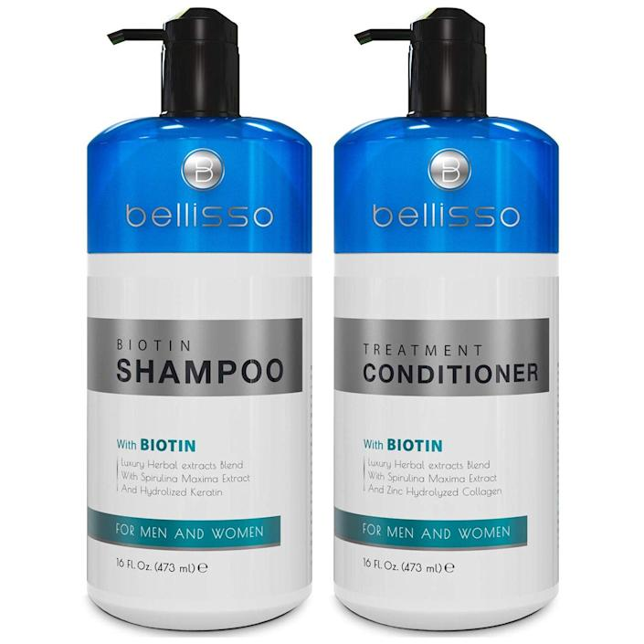 Biotin Shampoo and Conditioner Set for Hair Growth and Thinning Hair