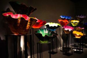 Chihuly Studio's 'Macchia' collection at the Glass In Bloom Gallery. Photo: Coconuts