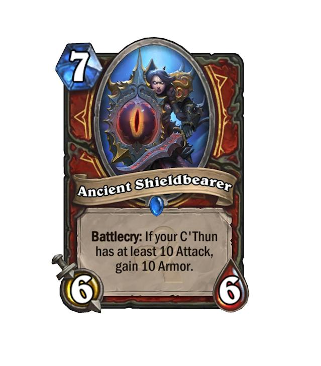 <p>Okay, look. If your C'Thun already has 10 attack, you're not going to need that armor. Relax, Warriors.</p>