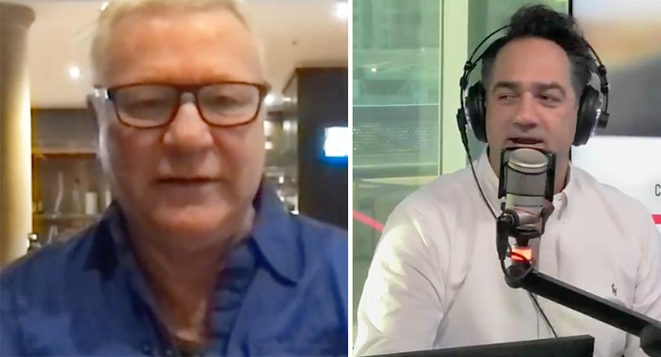 block host scott cam on radio with fitzy and wippa