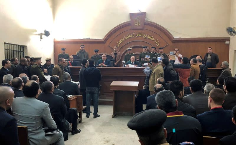 FILE PHOTO: A general view of the court where two monks were convicted of murdering Bishop Epiphanius of Saint Macarius Monastery northwest of Cairo, in Damanhour