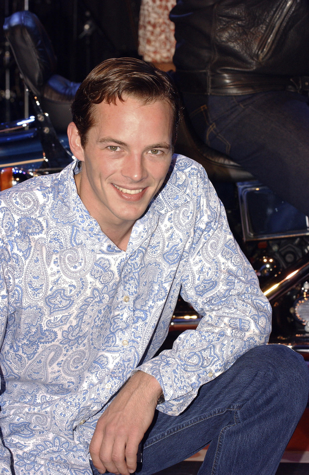 Dieter Brummer during a media preview of the stage production of 'Leader of the Pack' at the Star City Showroom on June 25, 2003