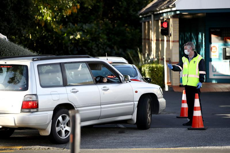 Testing has ramped up in New Zealand since two people with the virus were allowed into the community. Source: Getty