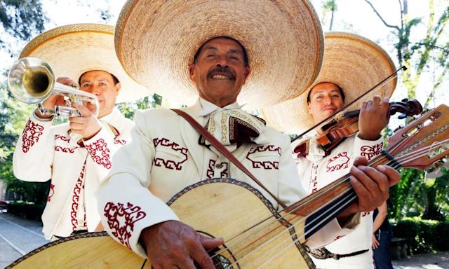 """<span class=""""element-image__caption"""">A mariachi band – not this one pictured in Mexico – has been hired by Grimsby fans for their League Two match at Barnet on Saturday.</span> <span class=""""element-image__credit"""">Photograph: Jeremy Woodhouse/Holly Wilmeth/Getty Images/Blend Images</span>"""