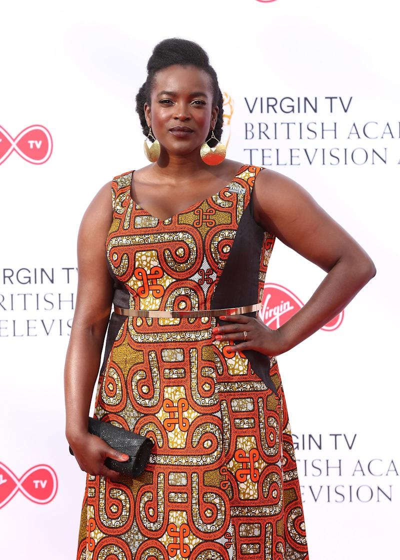 Wunmi Mosaku attending the Virgin TV British Academy Television Awards 2018 held at the Royal Festival Hall, Southbank Centre, London. PRESS ASSOCIATION Photo. Picture date: Sunday May 13, 2018. See PA story SHOWBIZ Bafta. Photo credit should read: Isabel Infantes/PA Wire