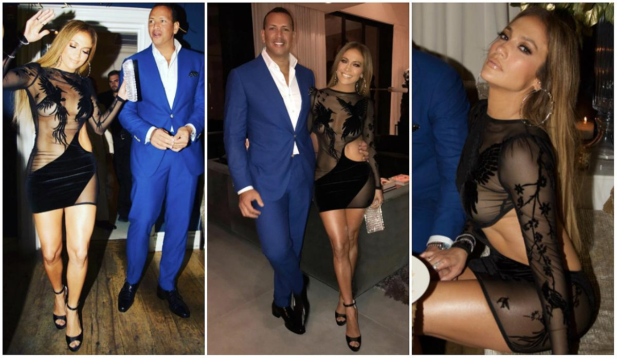 "<p>Happy birthday, J.Lo! The actress turned 48-years-old on July 24 and celebrated with her beau Alex Rodriguez (who turns 41 on July 27) in Miami. Lopez showed off her fab bod in a form-fitting sheer mini bodycon dress by Bao Tranchi that featured sheer panels and cutout detailing. She paired the dress with towering black peep-toe stilettos and let her long, flowing locks flow loosely behind her back. While the ""Shades of Blue"" actress opted for a sexy look, Rodriguez also stood out in a tailored blue two-button suit. (Photo: Instagram/July 23, 2017) </p>"