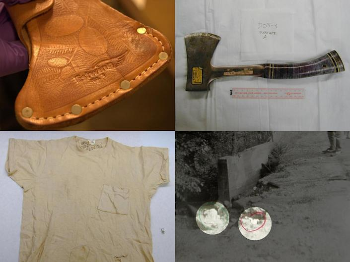 On Dec. 24, 2018, California Gov. Jerry Brown approved new DNA testing on four pieces of evidence: the sheath, the hatchet, the tan T-shirt and an orange towel found near the Ryen home that matched ones from inside. / Credit: San Bernardino Sheriff's Department
