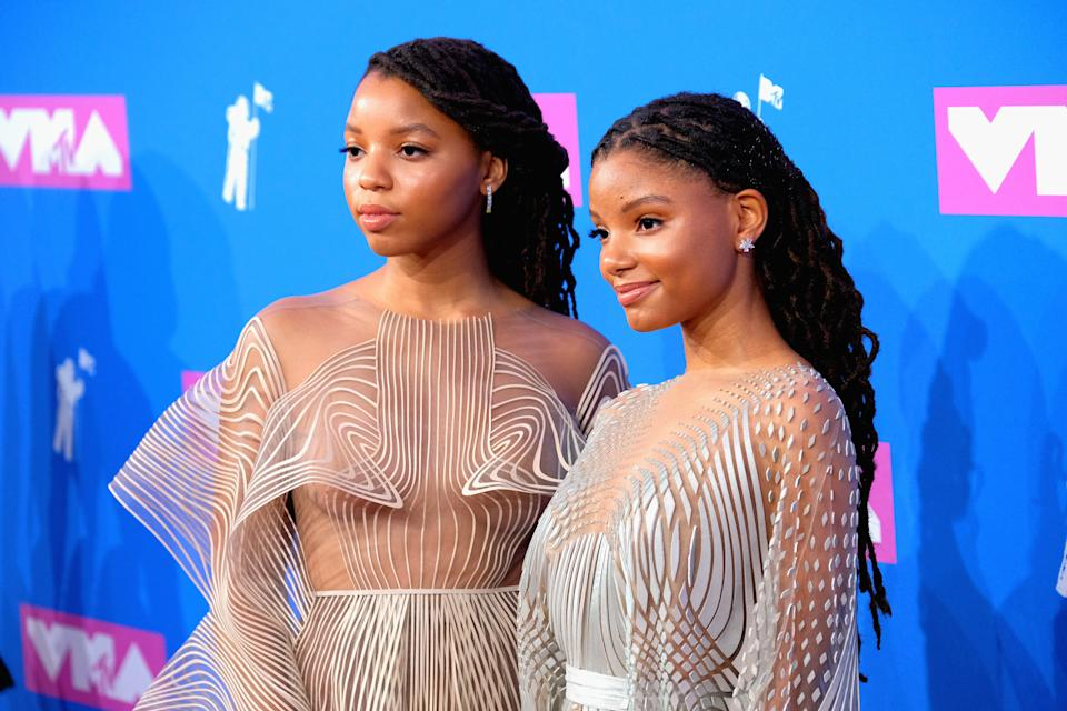 NEW YORK, NY - AUGUST 20:  Chloe X Halle attend the 2018 MTV Video Music Awards at Radio City Music Hall on August 20, 2018 in New York City.  (Photo by Matthew Eisman/FilmMagic)