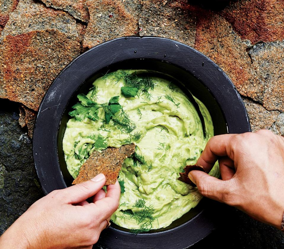 """A lighter, smoother, more grown-up guacamole. <a href=""""https://www.bonappetit.com/recipe/avocado-cream?mbid=synd_yahoo_rss"""" rel=""""nofollow noopener"""" target=""""_blank"""" data-ylk=""""slk:See recipe."""" class=""""link rapid-noclick-resp"""">See recipe.</a>"""