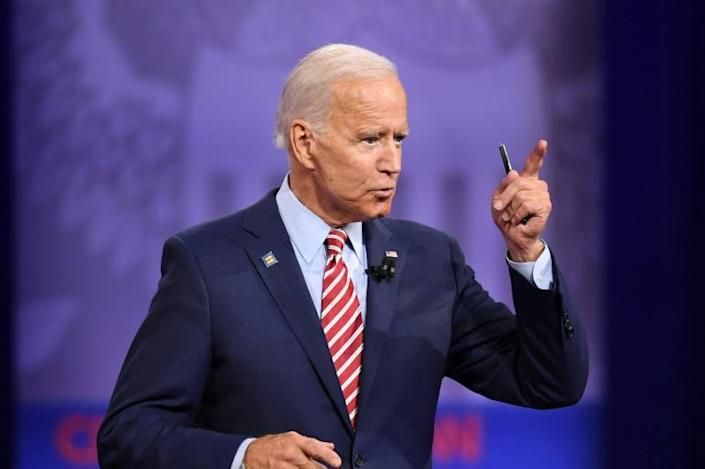 Democratic White House hopeful Joe Biden is pushing back fiercely against US President Donald Trump, who has repeatedly criticized the former vice president and accused him, without evidence, of being involved in corruption in Ukraine (AFP Photo/Robyn Beck)
