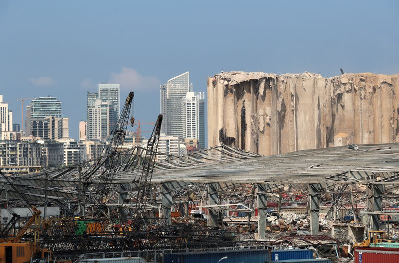FILE PHOTO: A view shows damages at the site of a massive explosion in Beirut's port area