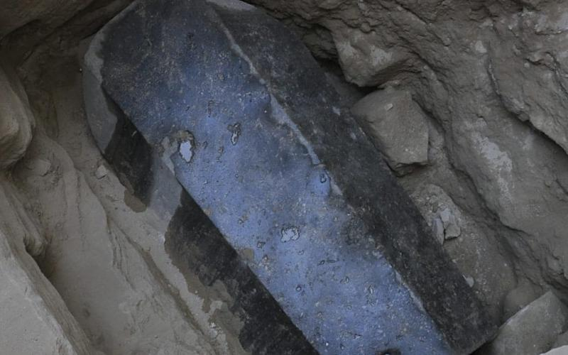 The ancient tomb dating back to the Ptolemaic period was found in the Sidi Gaber district of Alexandria - AFP