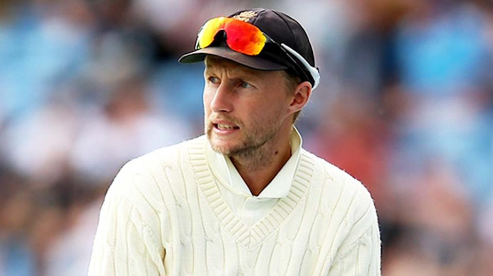 Joe Root (pictured) looking on during a Test match.