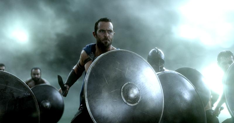 "This image released by Warner Bros. Pictures shows Sullivan Stapleton in the film, ""300: Rise of an Empire."" (AP Photo/Warner Bros. Pictures)"
