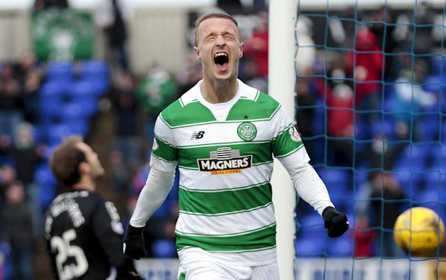 "Football Soccer - Inverness Caledonian Thistle v Celtic - Ladbrokes Scottish Premiership - Tulloch Caledonian Stadium - 29/11/15Leigh Griffiths celebrates after scoring the second goal for CelticAction Images via Reuters / Graham StuartLivepicEDITORIAL USE ONLY. No use with unauthorized audio, video, data, fixture lists, club/league logos or ""live"" services. Online in-match use limited to 45 images, no video emulation. No use in betting, games or single club/league/player publications. Please contact your account representative for further details. TPX IMAGES OF THE DAY"