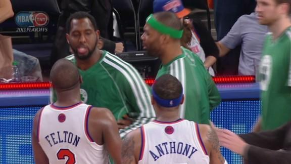 Knicks and Celtics push and shove after post-buzzer trash talk following Game 5 (Video)
