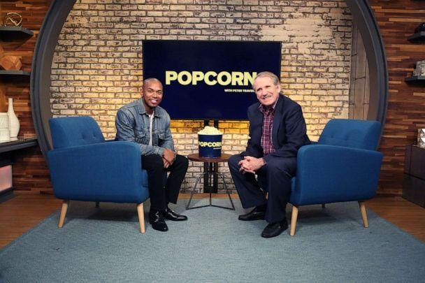 PHOTO: Kelvin Harrison Jr. appears on 'Popcorn with Peter Travers' at ABC News studios, August 5, 2019, in New York. (Emilie Richardson)
