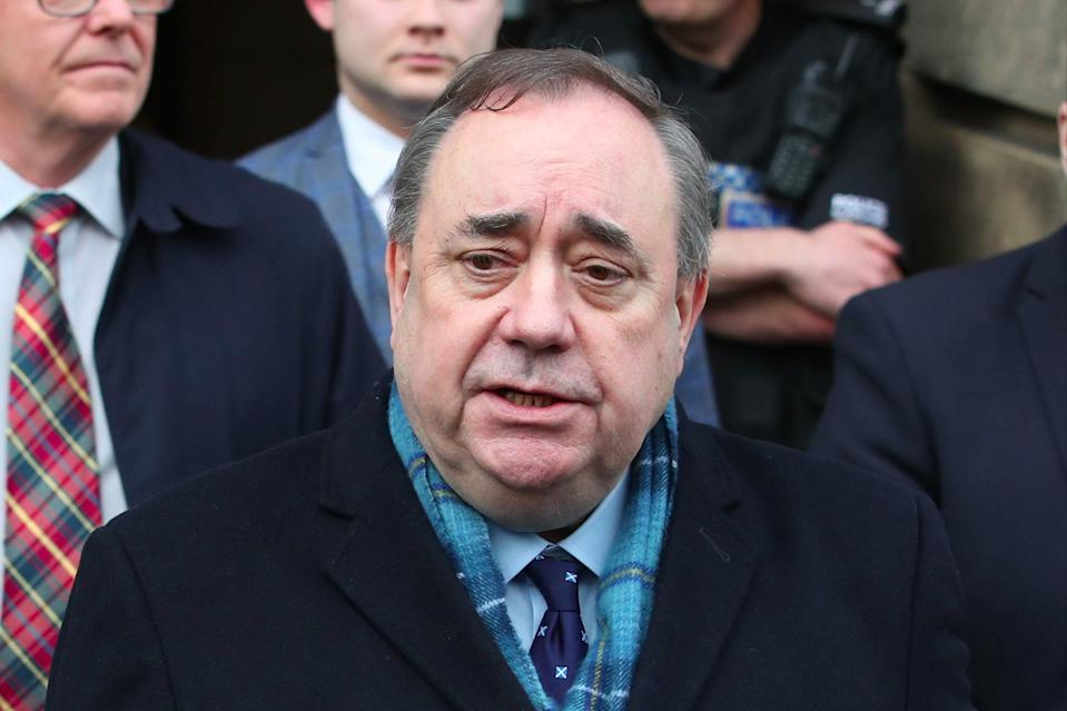 Alex Salmond said there had been a 'malicious and concerted' effor to remove him from public lifePA
