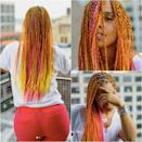 """<p>If you're looking for some braid-spiration, Alicia Keys took to Instagram on Friday night with a fiery new look for the summer: orange-pink ombre box braids!<br>""""#views #nyc,"""" the singer captioned next to the sassy snaps, including one stunning view from behind as she overlooks the city from her balcony. Keys has always rocked braids, most noteably Fulani-inspired tribal braids garnished with bead accessories. Her new waist-length fiery box braids feature small square-shaped partings so her hair can easily be styled in countless ways. We're hoping this sticks for the summer! Are you a fan? (Photos: Instagram. When: July 21, 2017) </p>"""