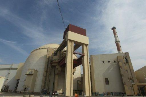 The reactor building is at the Bushehr nuclear power plant in southern Iran