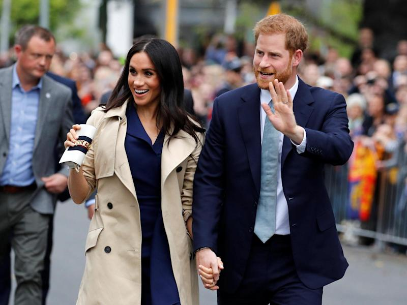 Meghan and Prince Harry visit the Royal Botanic Gardens in Melbourne, Australia on 18 October 2018: Getty Images