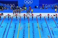 """<p>Swimming will always be a must-watch event when you have once-in-a-lifetime athletes like Katie Ledecky jumping into the pool. (The sport would be number one on this list if she was willing to recreate <a href=""""https://www.esquire.com/sports/a33614954/katie-ledecky-olympics-chocolate-milk-interview/"""" rel=""""nofollow noopener"""" target=""""_blank"""" data-ylk=""""slk:her chocolate milk stunt"""" class=""""link rapid-noclick-resp"""">her chocolate milk stunt</a> on the world's biggest stage.)</p>"""