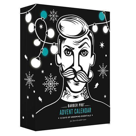 """<p><strong>Barber Pro</strong></p><p>akardesign.com</p><p><strong>$30.00</strong></p><p><a href=""""https://akardesign.com/products/barber-pro-12-days-of-grooming-essentials-advent-calendar"""" rel=""""nofollow noopener"""" target=""""_blank"""" data-ylk=""""slk:SHOP NOW"""" class=""""link rapid-noclick-resp"""">SHOP NOW</a></p><p>Men can pamper their skin during the dry winter with this advent calendar of grooming products. Despite the name, it's filled with masks, including face masks and eye masks. </p>"""