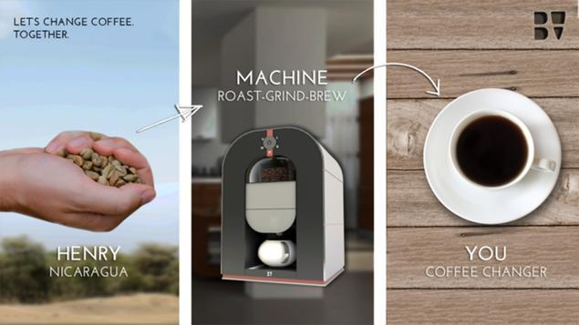World first: Bonaverde lets you buy coffee beans fresh from the farmer as it roasts, grinds and brews