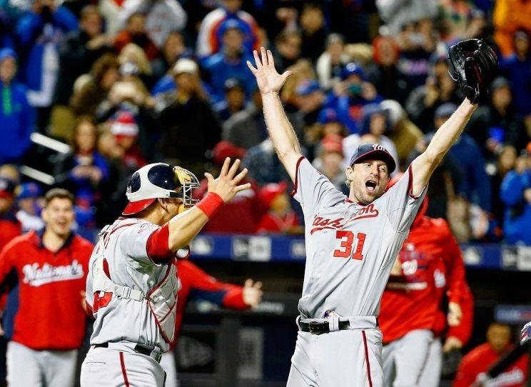 Max Scherzer reacts after the Internet didn't ruin his no-hitter. (Getty Images)