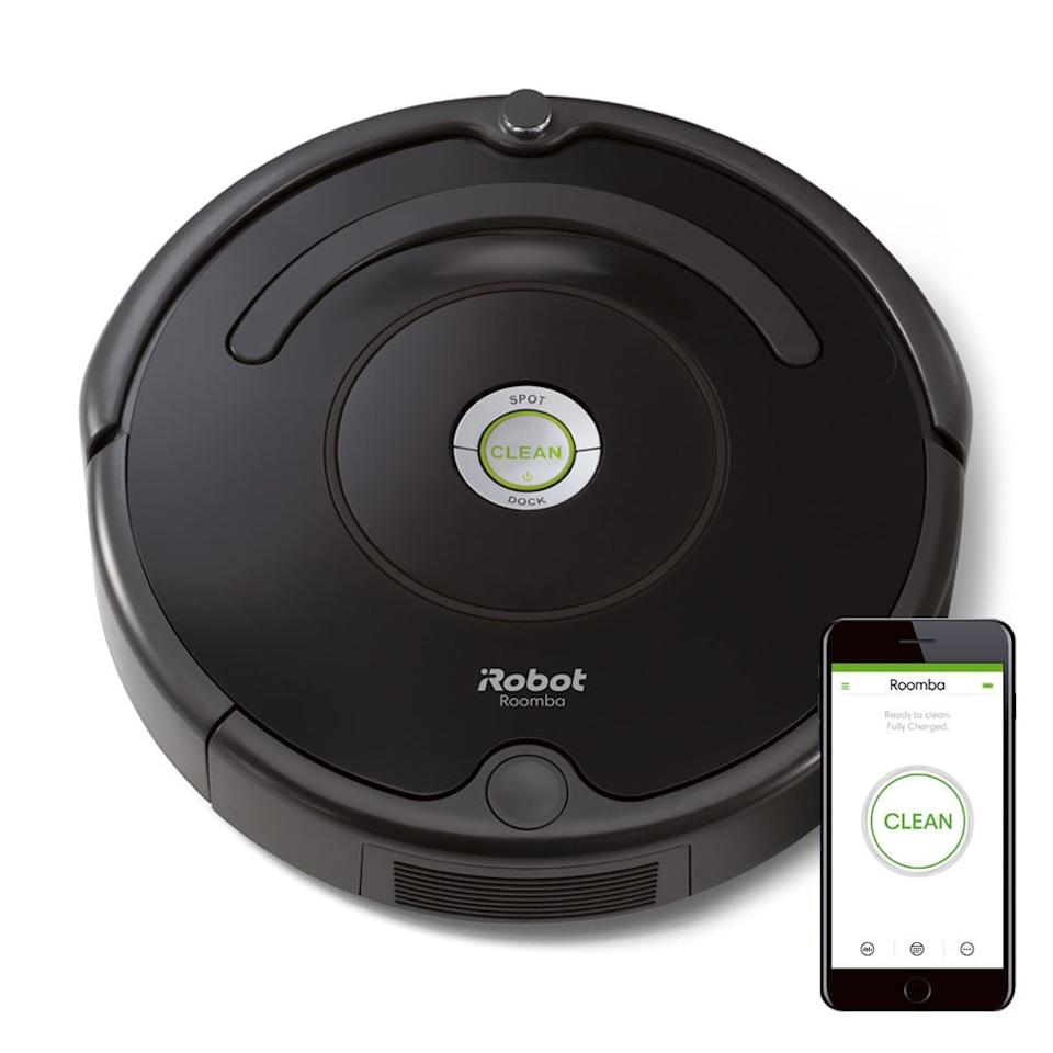 "<p>Shed fur, pet food accidents, and litter tracking are all things of the past with the most convenient hands-free cleaning device out there - the <a rel=""nofollow"" href=""https://www.popsugar.com/buy/iRobot%20Roomba%20675-404768?p_name=iRobot%20Roomba%20675&retailer=store.irobot.com&price=300&evar1=moms%3Aus&evar9=45666496&evar98=https%3A%2F%2Fwww.popsugar.com%2Fmoms%2Fphoto-gallery%2F45666496%2Fimage%2F45666509%2FiRobot-Roomba-675&list1=dogs%2Cgifts%2Ccats%2Cpets&prop13=api&pdata=1"" rel=""nofollow"">iRobot Roomba 675</a> ($300). The iRobot HOME App allows you to schedule cleanings anytime, anywhere from your phone so that your home always has that ""just swept"" feel.</p>"