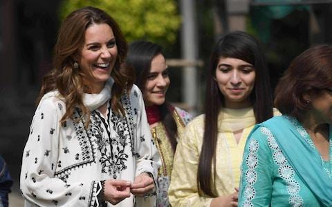 The Duchess of Cambridge returned to the orphanage she had visited a day earlier - Credit: Neil Hall/PA