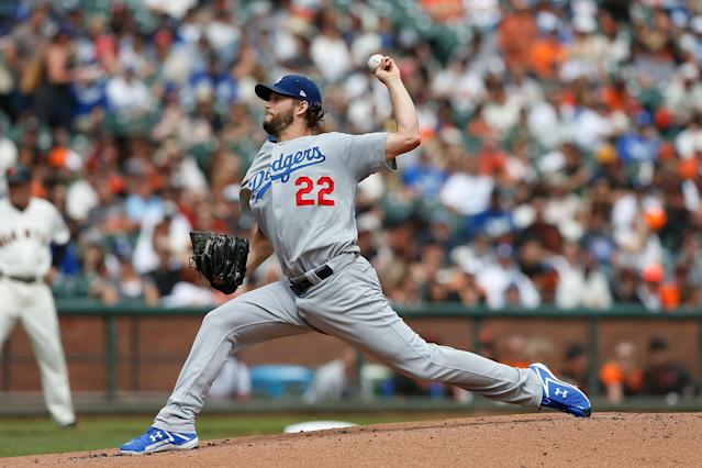 Clayton Kershaw allowed five runs in five innings on Saturday. It could be his final start for the Dodgers. (Getty Images)
