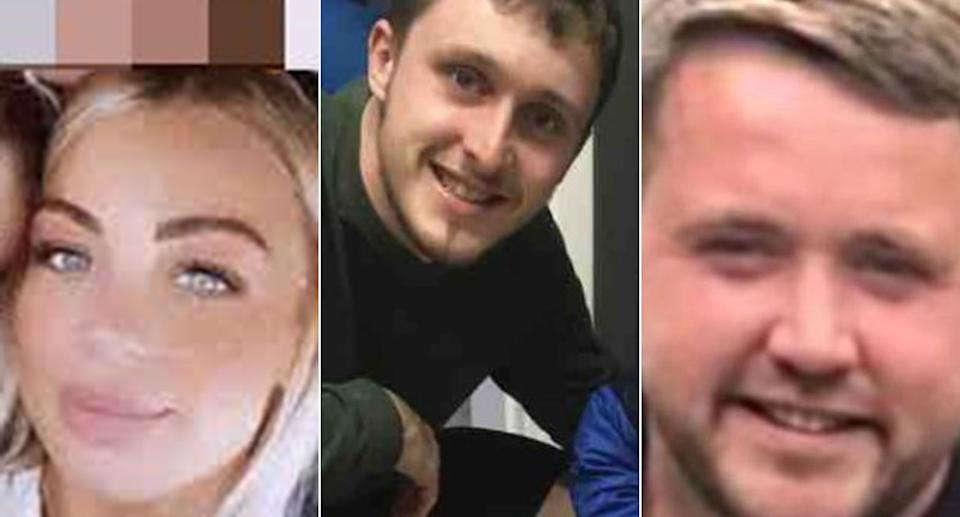 Alex Ford, Scott Simpson, and Jay McEvoy all died when the car thet were in smashed into a roundabout (reach)