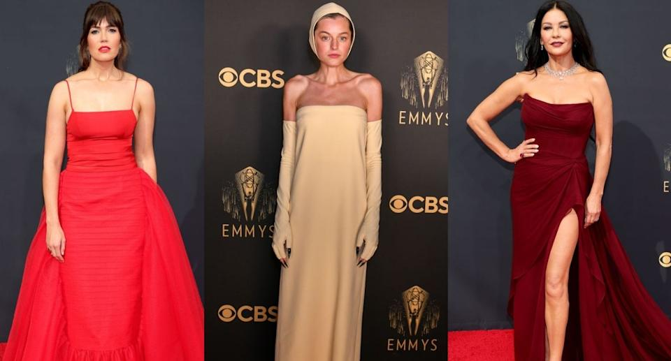 Vote for the best and worst dressed star at the 2021 Emmy Awards (Images via Getty Images)