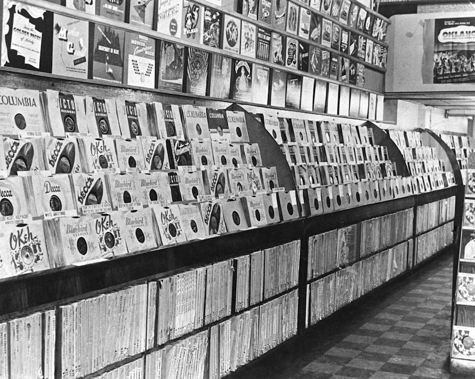 """<p><span>Founded in 1937 by Hyman Shapiro and his sons in Pittsburgh, the company specialized in used 78 RPM records from jukeboxes. Crazy, right? But it became the first music store chain in the U.S., and in 1964, <a href=""""http://old.post-gazette.com/businessnews/20020125nrm0125bnp2.asp"""" rel=""""nofollow noopener"""" target=""""_blank"""" data-ylk=""""slk:the store helped bring the Beatles to town for a concert"""" class=""""link rapid-noclick-resp"""">the store helped bring the Beatles to town for a concert</a>. The company had more than 160 stores, as far away as Hawaii and Guam, by 1998. But sales suffered in the '90s, and all stores closed by 2002.</span><br></p>"""
