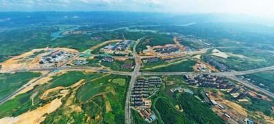 Bird View of Guangxi Baise Key Development and Opening Pilot Zone (PRNewsfoto/The Publicity Department of Baise City)