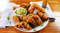"""<p>This is the ultimate hybrid!!!</p><p>Get the recipe from <a href=""""https://www.delish.com/cooking/recipe-ideas/a25845905/burrito-egg-rolls-recipe/"""" rel=""""nofollow noopener"""" target=""""_blank"""" data-ylk=""""slk:Delish"""" class=""""link rapid-noclick-resp"""">Delish</a>.</p>"""