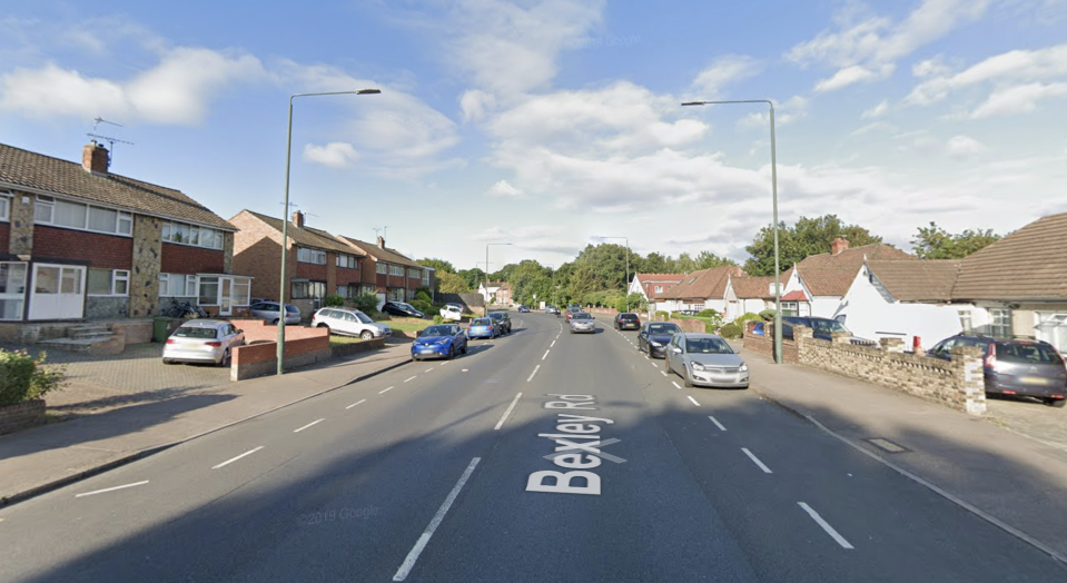 Part of Bexley Road, where the alleged murder is said to have taken place. (Google Maps)