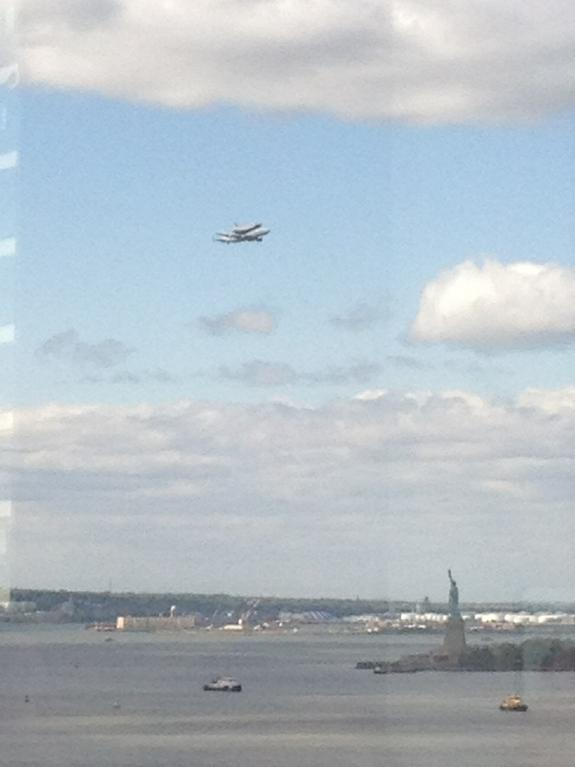 Space Shuttle Enterprise Lands in NYC for Museum Display