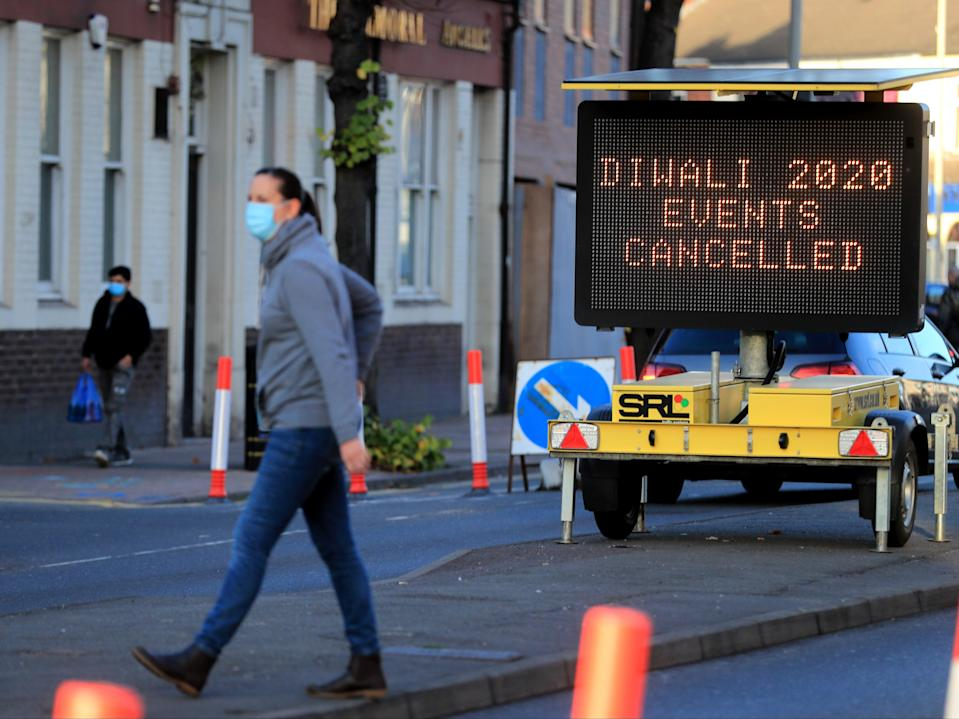 <p>Matt Hancock has said the infection rates there were too high</p> (PA)