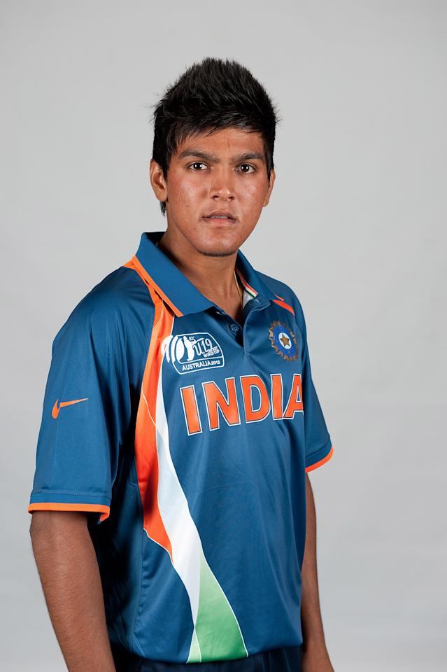 BRISBANE, AUSTRALIA - AUGUST 06:  Smit Patel of India poses during a ICC U19 Cricket World Cup 2012 portrait session at Allan Border Field on August 6, 2012 in Brisbane, Australia.  (Photo by Matt Roberts-ICC/Getty Images)