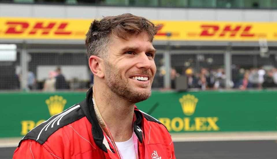 Joel Dommett during the British Grand Prix at Silverstone, Towcester. (Photo by Bradley Collyer/PA Images via Getty Images)