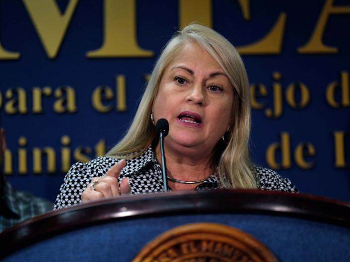 Puerto Rico Governor Wanda Vazquez speaks at a news conference in San Juan, Puerto Rico: REUTERS