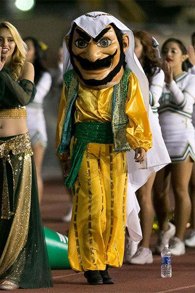 A California high school is redesigning its mascot of an Arab after an Arab-American group complained that the portrayal of a snarling, mustached man is steeped in offensive stereotypes. Coachella Valley High School, however, wants to keep the mascot to reflect the region east of Los Angeles' date-growing history.