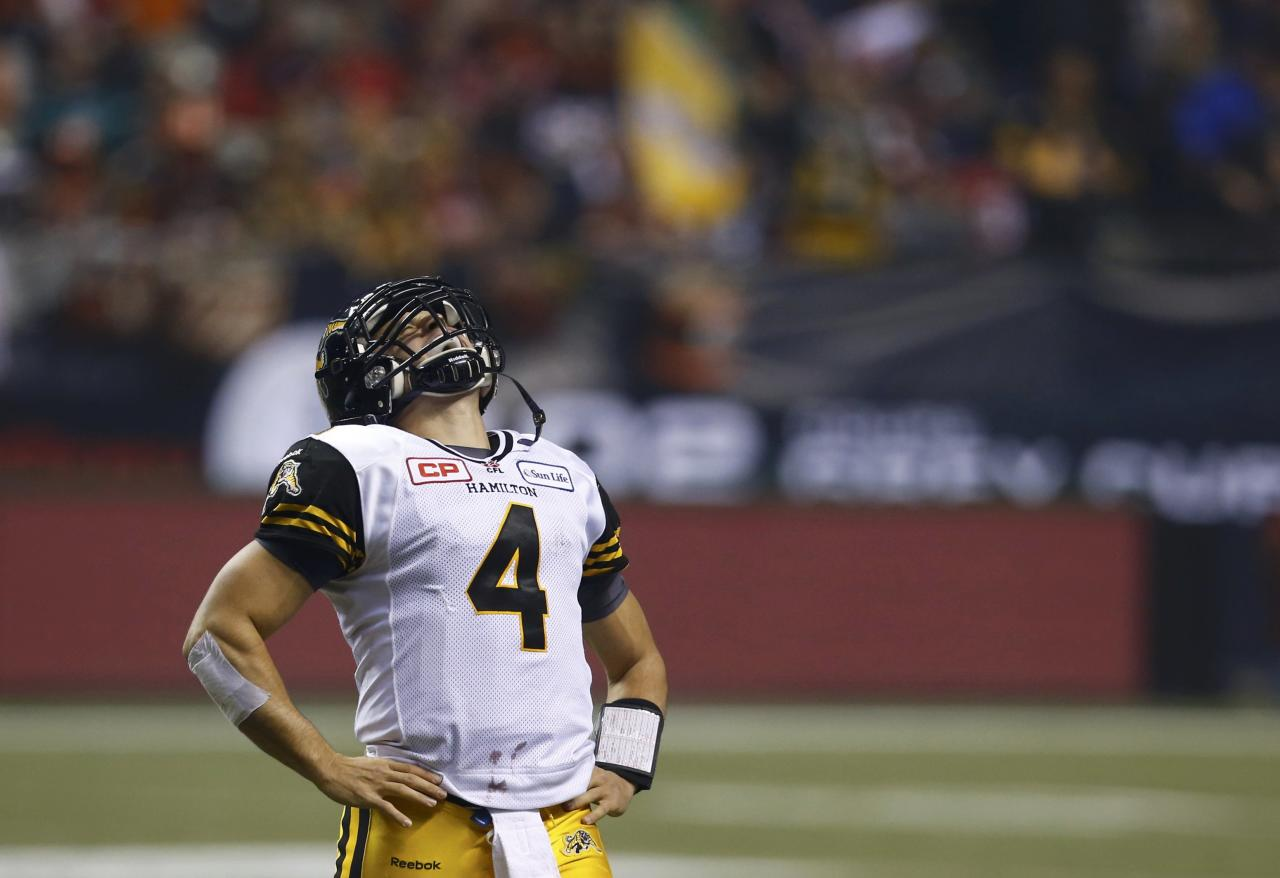 cfl grey cup the agony of defeat
