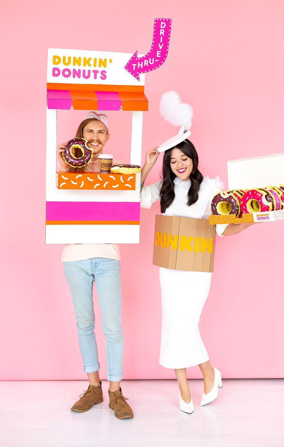 """<p>Who doesn't love coffee and donuts? No matter how you take your coffee, this clever idea will be an absolute hit at any party.</p><p><strong>Get the tutorial at <a href=""""http://www.awwsam.com/2018/10/diy-hot-coffee-couples-costume.html"""" rel=""""nofollow noopener"""" target=""""_blank"""" data-ylk=""""slk:Aww Sam"""" class=""""link rapid-noclick-resp"""">Aww Sam</a>.</strong></p><p><a class=""""link rapid-noclick-resp"""" href=""""https://www.amazon.com/Mokoru-Womens-Casual-Pencil-Bodycon/dp/B07JHMS7NZ/ref=sr_1_4?dchild=1&keywords=white+long+sleeve+dress+women&qid=1591988006&sr=8-4&tag=syn-yahoo-20&ascsubtag=%5Bartid%7C10050.g.21349110%5Bsrc%7Cyahoo-us"""" rel=""""nofollow noopener"""" target=""""_blank"""" data-ylk=""""slk:SHOP WHITE DRESSES"""">SHOP WHITE DRESSES</a></p>"""