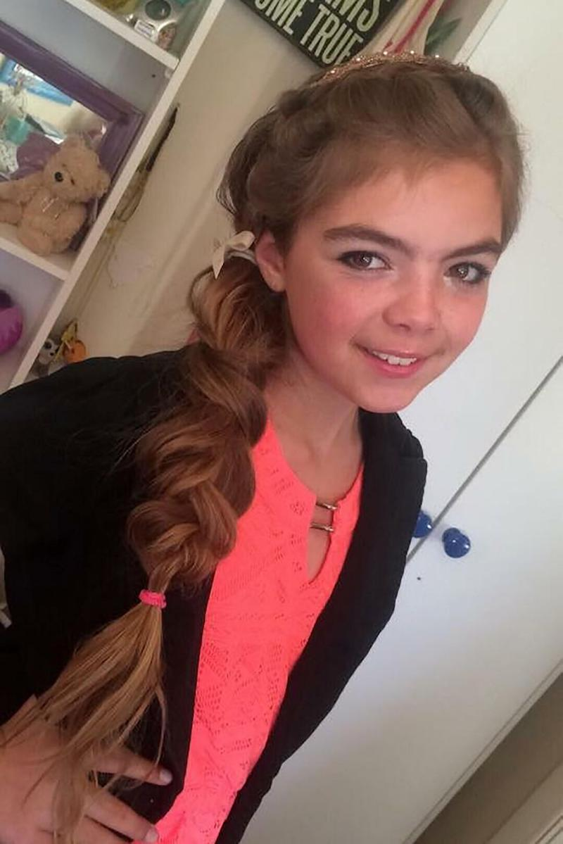 Aimee was left heartbroken by the change in her young daughter following the bullying. Photo: Caters